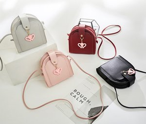 Valentine's Day children Purse Girls Love heart buckles bags Kids crossbody bags women mini phone purse A5589