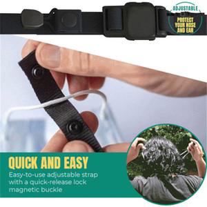 Réglable Elasticité Bracelet magnétique Bouton Antiderapant Masque Corde Prevent Tirer l'oreille de crochet d'extension Masque multi-fonction T1I2548