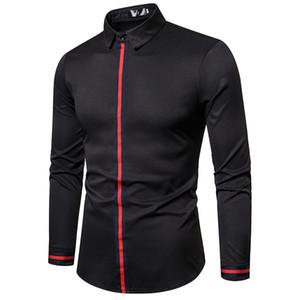 MarKyi renk erkekler için erkekler artı boyutu 5XL elbise gömlek için kore moda elbise gömlek desgin çizgili