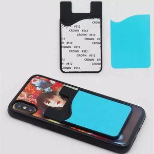 Em branco de sublimação de silicone Cartão de Carteiras de cartões de identificação de crédito Pacote Mobile Phone Bag bolso titular para iPhone 12 Samsung S20 Nota 20 Plus