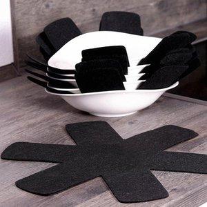 3/6 / no tejidos 8pcs Herramientas Telas sartenes ollas Separador Scratchproof Protectores para la Tabla ollas y sartenes de cocina Mantel separador U0bv #
