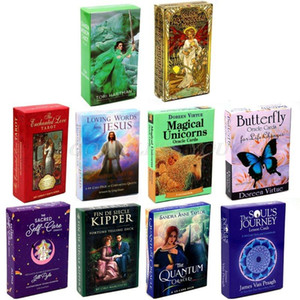 Englisch Tarot-Karte Deck-Familien-Feiertags-Party Mysterious Divination Tarot Deck Oracle Spiel-Spielkarte Brettspiel Drop Shipping bbyJbN