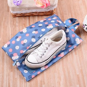 Portable Waterproof Travel Shoe Bag outdoor Storage Bag Pouch Convenient Storage Organizer Shoes Sorting Zipper Tote LX3776
