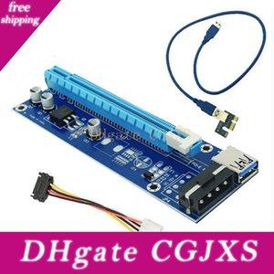 60 centimetri PCI Express 1x a 16x Pci -E carta della colonna montante Usb 3 .0 Per 4Pin ido Extension Cable Molex Alimentazione per Btc Miner