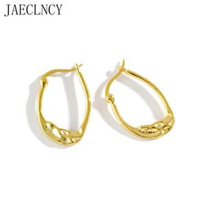 925 Sterling Silver Brinco Ear hipérbole Argola Para Mulheres ouro 18k Buckle Irregular Círculo Fine Jewelry 925 presente