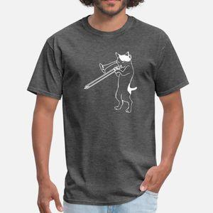 Funny Trombone - Cat Playing Instrument - Humor T Shirt Humor Black Sports Tracksuit Hoodie Sweatshirt