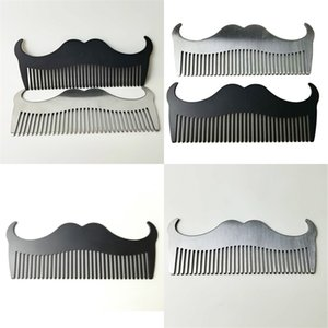 Stainless Steel Whisker Combs Pure Colour Comb Male Man Cleansing Arrangement Tool Beard Brush Outdoor Travel Gift 4 5qd N2