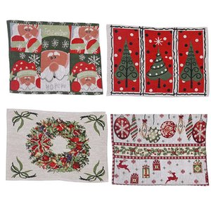 Winter Holiday Placemat Christmas Santa Claus Heat-Resistant Washable Table Place Mats for Kitchen Dining Table Decoration EWE1231