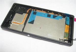 Sony Z2 L50W D6503 D6502 Yeni Origianl LCD Dokunmatik Ekran Sayısallaştırıcı ile Orta Orta Çerçeve Montaj Parçaları