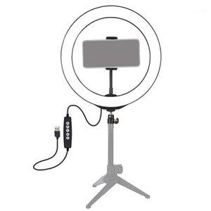LED RING Light RGB Красочный Dimmable USB Ring Light для Live Video 8 дюймов / 20см с телефоном Clip1