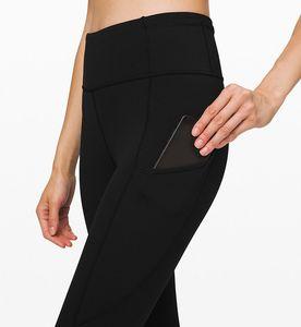Cheap sale designer pants black Women's High Active lulu pants Ladies Leggings 2021