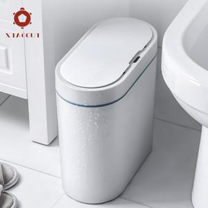 XiaoGui Smart Sensor Trash Can Electronic Automatic Household Bathroom Toilet Waterproof Narrow Seam C0930
