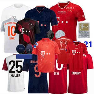 2019 2020 2021 Bayern Múnich Fútbol jerseys PAVARD NEUER MULLER Lewandowski THIAGO SANE 120 20 21 años de fútbol camisa 4xl