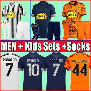 2020 2021 JUVENTUS Men 4th soccer jersey PIRLO fourth football kits shirts RONALDO DE LIGT 20 21 DYBALA JUVE Kids sets uniform boy with sock