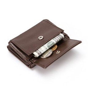 Slim Mini Mens Portafoglio PU in pelle Trifold Coins Portafogli Portafoglio per maschi Business Business Business ID Bank Bank Card Case Case Portachiavi