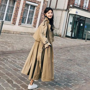 Style britannique 2020 New Spring's Femmes Trench Coat-manteau Windbreaker élégant Fashion Mode Dames Capabos avec courroie1