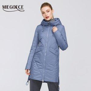 MIEGOFCE 2021 Kadın Parkas Pamuk Yastıklı Ceket Yeni Bahar Tasarımları Kadın Ceketler Hood Ile Uzun Sıcak Moda Mont Için Anne Sıcak