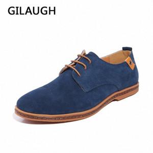 Gilaugh Мода Горячие Мужчины Повседневная Обувь Весна Осень Оксфорды Стиль Открытый Квартиры Зима Теплые Кожаные Мужские Обувь Большой Размер 39-48 # CW3P