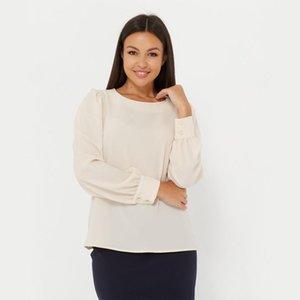 O pescoço da lanterna Moda shirts mulheres cor sólida elegante Blusa Blusa Manga Chegada nova Lady escritório desgaste Shyloli Casual