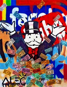 Alec Monopoly Graffiti art Home Decor Handpainted &HD Print Oil Painting On Canvas Wall Art Canvas Pictures 201023