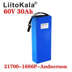 LiitoKala 60V 30ah 16S6P elektrikli scooter bateria 60V 30AH Elektrikli Bisiklet Lityum Batarya Scooter 60V 1000W ebike pil