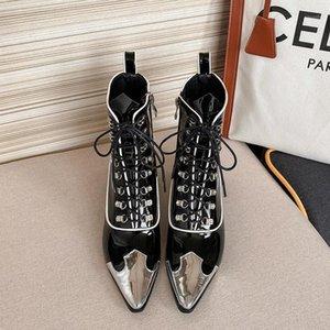 NORBERG 2020 Kış Kadın Çizmeler Kış Kadın Çizmeler Ayakkabı Ayakkabı Siyah1 için Ayak Bileği
