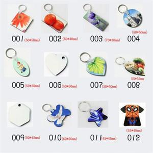 Sublimation MDF Heart Round Blank Key Chaîne Chaud Transfert d'impression Blanches Keychains Key Clé Bijoux Consommables