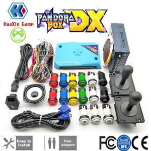 DIY Arcade Machine Kabine Paketi Orijinal Pandora Kutusu DX 2992 Oyun Konsolu Seti HAPP itin Düğmeler Amerikan 8 Yolu Joystick ile
