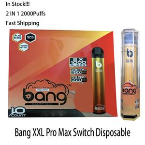 Bang XXL Pro Max Switch Kit de dispositivo desechable VAPE 2 IN 1 6ML PODS 2000 Puffs 1100mAh Batería XXTRA Double Pen para Puff Flex Ezzy Super