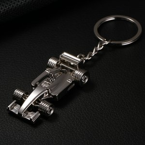 Fashion F1 Power Wheel Racing Car Keychain Elegant Metal Keyring Key Chain Accessories Gift Souvenir for Man