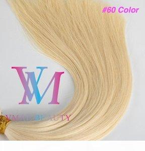 VMAE toptan avrupa sarışın kahverengi çift çizilmiş 0.5g * 100 önceden yapışmış bakire remy insan düz U-ucu insan saç uzantıları