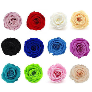 Artificial Rose Dried Flowers Preserved Eternal Rose Flower Box Birthday New Year Valentine's Gifts Forever Everlasting
