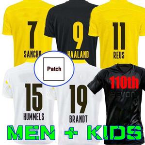 Dortmund Haaland Reus 20 21 Brandt Jersey de football 2020 2021 Chemises de football Bellingham Sancho 110ème hommes + Kids Maillot de pied Gardien de but