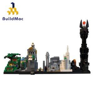 BuildMoc Gebäude in der Stadt Film Figuren Schloss Sets MOC Skyline Architektur Building Blocks Bricks City House Spielzeug für Kinder C1114