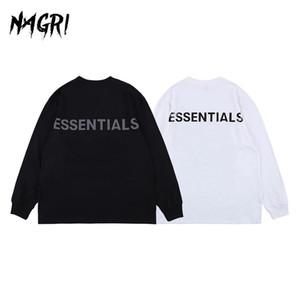 Nagri Erkekler Hip Hop Kazak Streetwear Uzun Kollu Tişört Essentials Grafik Punk Tee Harf Baskılı Casual Gevşek Yaz 201004