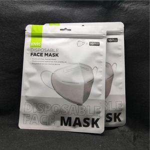 KN95 Masque usine 95% Filtrer les masques colorés charbon actif respiratoire Respirateur Valve 6 couche masque avec des sacs individuels en anglais