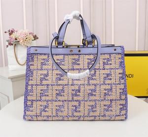 Modedesigner Handtaschen Luxus-Einkaufstasche Handtaschen aus Leder New Abendtaschen 41CM großen Kapazitäts-handgemachte gesponnene Beutel A 503