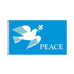 The dove of peace love Peach Flag 3x5 ft 100D Polyester Digital Printing Indoor Outdoor Use Hanging , free shipping