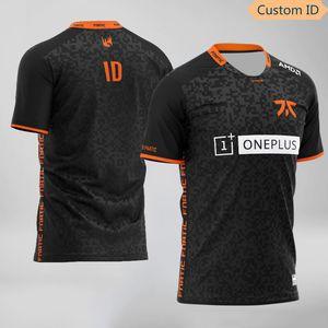 LOL LEC S10 csgo Dota2 Fnatic Esports Equipe Jerseys personalizado Nome Fãs jogo camisetas para homens mulheres feitas sob encomenda ID Tees Camisa 1005
