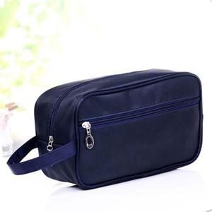 Nuevos 26 x 10 x 15cm mujeres de los hombres de nylon bolsas de cosméticos casos unisex viaja portable bolsas de almacenamiento a prueba de agua Multifuctional
