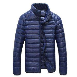 Jacket Outono Inverno Homens Ultraleve Parkas portátil casaco quente Casual Windproof Jacket masculino Outwear 5XL 6XL