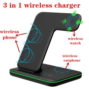 3 in 1 charger 15W Qi Wireless Charger Stand wireless charger for huawei phone and headphones Samsung wirelesswatch With Retail Package