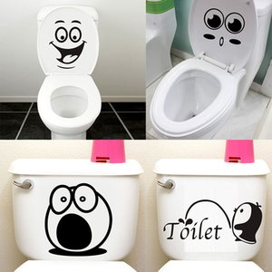 Bathroom Wall Stickers Room Decoration Removable Toilet Sticker Wall Decals Smile Face WC Stickers Home Decor Art Mural Stickers
