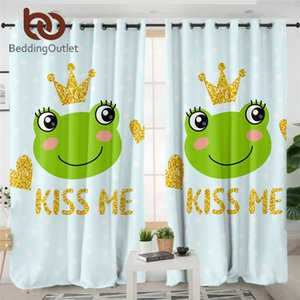 BeddingOutlet Cute Frog Bed Cover Cartoon Duvet Cover Golden Glittering Crown Bedding Set Prince Frog Fairy Tale Bedspread Queen Towel