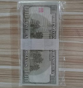 100pcs a set Bill Money Paper Old Version 100 Dollars Napkin Party Whole Gift Wedding Birthday Decoration Fliming Props Banknotes toys