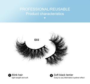 Mink Eyelashes Bulk Wholesale 10 styles 3d Mink Lashes Pack Natural Thick False Eyelashes Handmade Makeup False Lashes