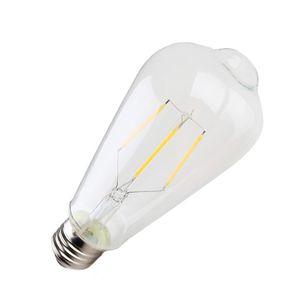 Modern highlighter LED bulb filament bulb ST64 retro tungsten filament bulb nipple bubble filament lamp E27