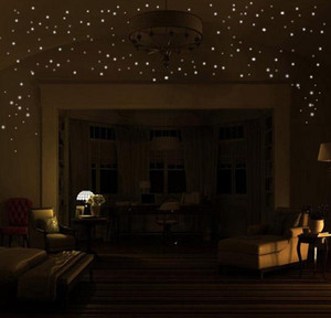 Hot Glow In The Round Dot Dark Star Stickers Luminous Vinyl Wall Stickers Like Star In The Night Romant bbyncI bde_luck