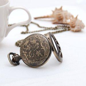 Studenti ragazzi ragazze ragazze romano carattere tasca orologio da tasca 40mm collana gioielli vintage all'ingrosso versione coreana maglione catena catena moda orologio