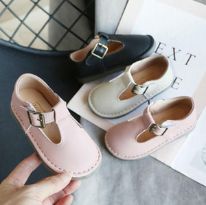 Children England Style Boys Leather Shoes Baby Fashion Sewing Casual Shoes Kids Sandals Girls Soft Sole Sneakers Slip On